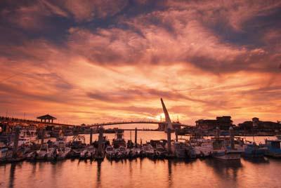 淡水漁人碼頭復古感遠景照