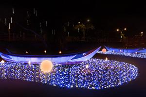 海關碼頭星光船燈景