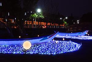 浪漫的星光船是淡水海關碼頭熱門的打卡景點。