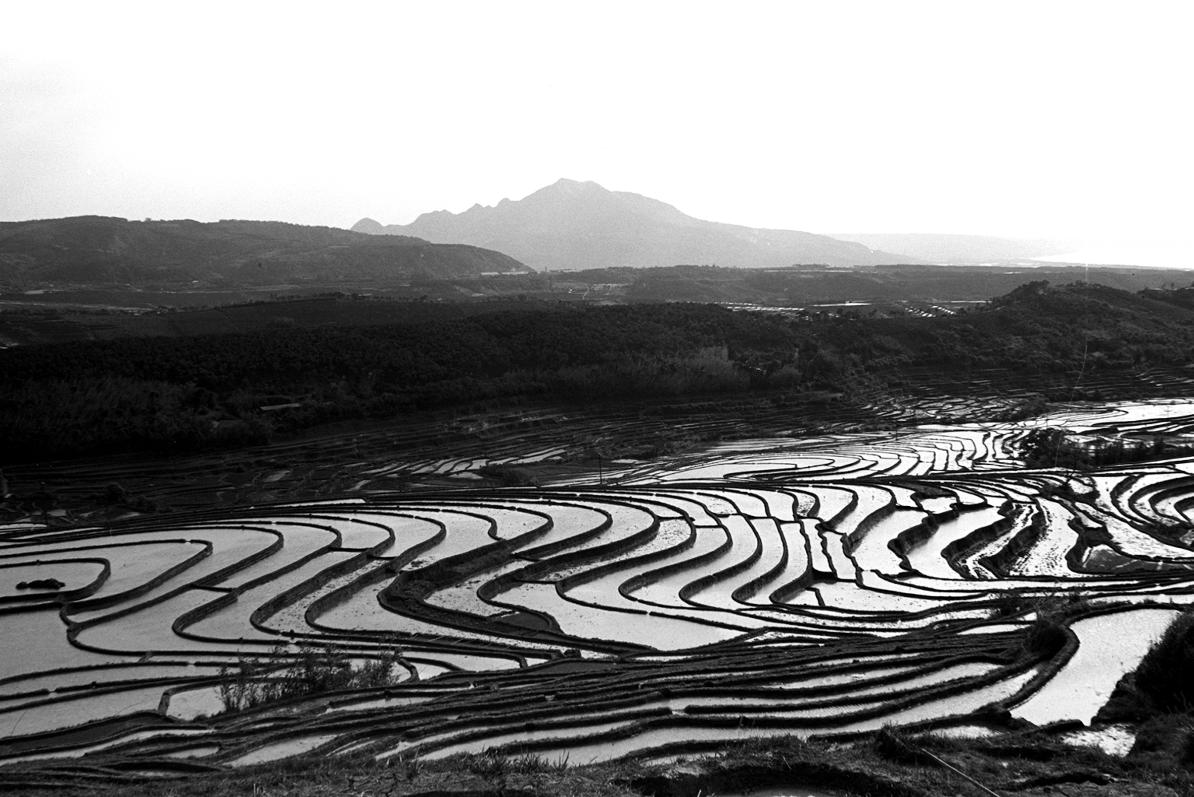 千層梯田映觀音 1970