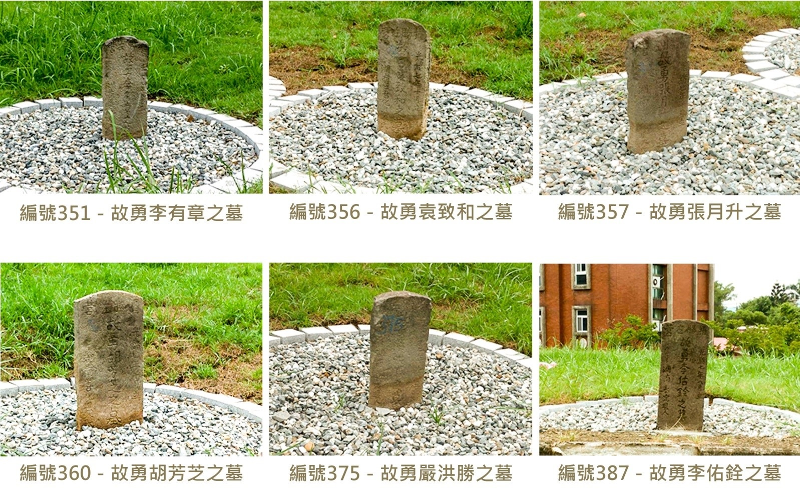 墓碑銘文實體照片