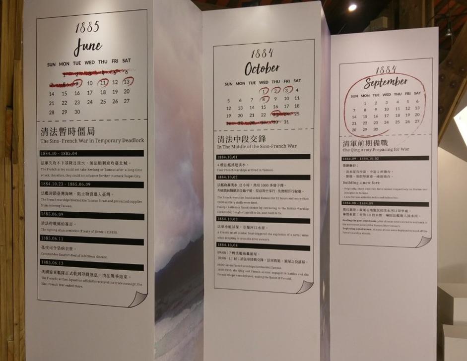 日曆列表快速抓住清法戰爭滬尾之役的大事重點