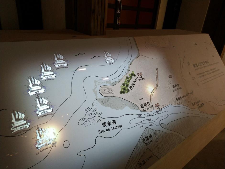 生動的互動動畫呈現滬尾之役海上及陸戰的攻防對抗