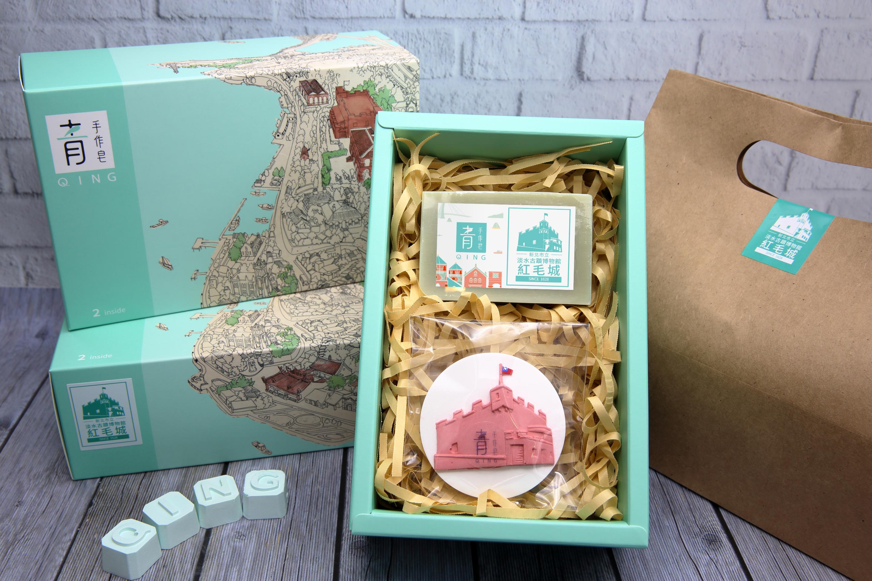 紅毛城禮盒組-苦茶芝麻皂/香氛磚