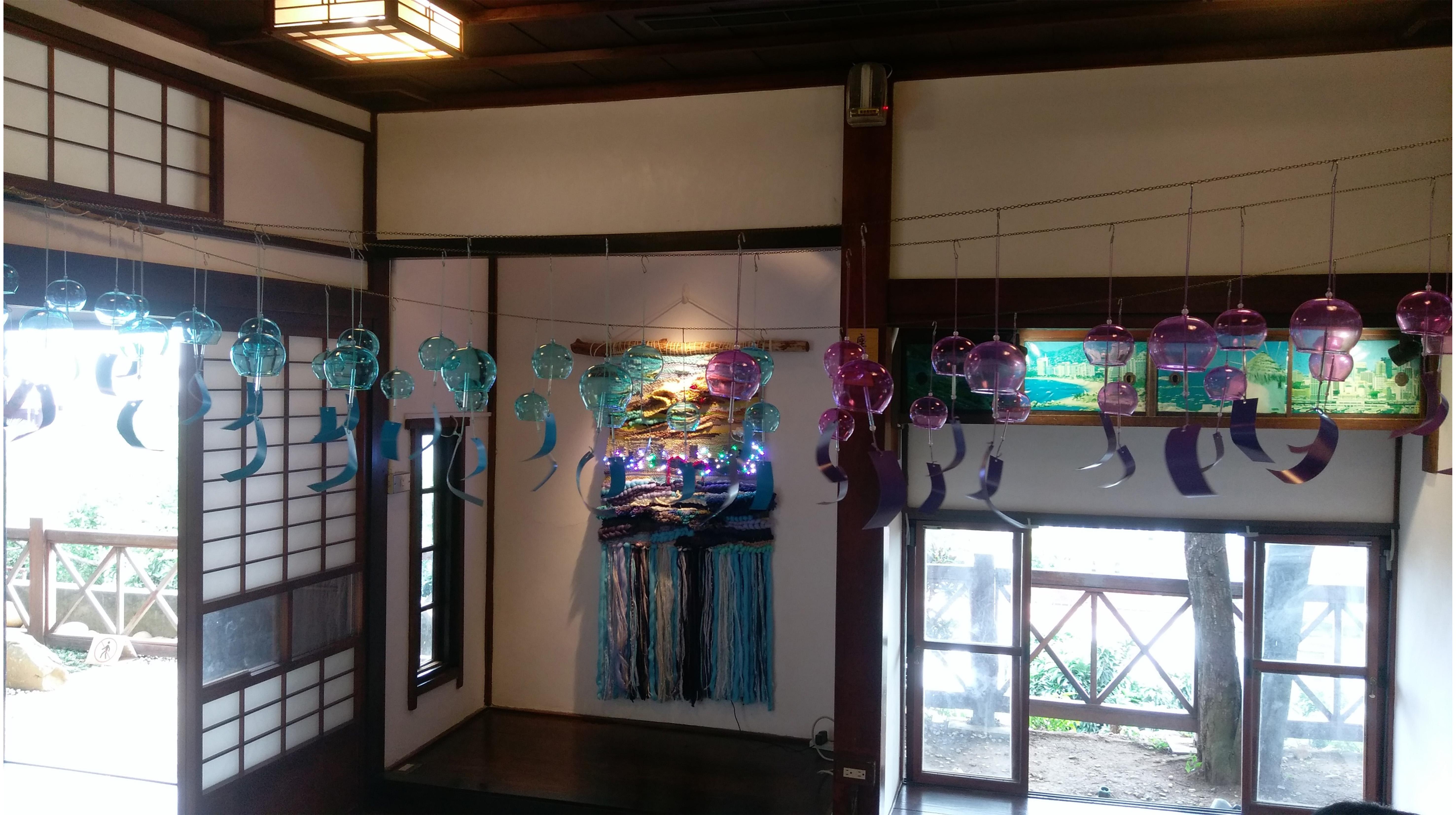 彩繪日式風鈴 手織淡水風景不思議