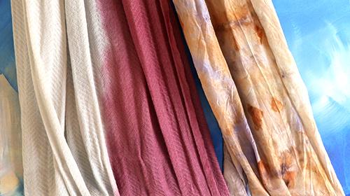 鐵媒印記─植物印染織畫 淡古駐村藝術家成果首展揭幕